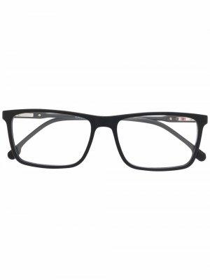 Очки в квадратной оправе Carrera. Цвет: черный