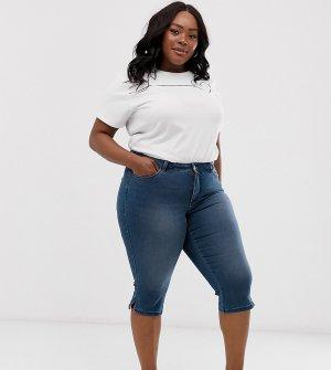 Укороченные джинсы -Темно-синий Junarose