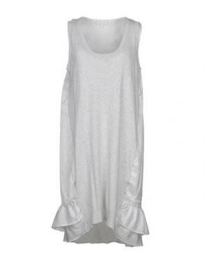 Короткое платье CLU. Цвет: светло-серый