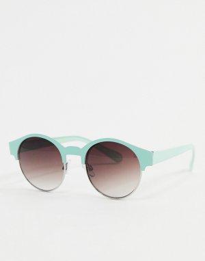 Мятно-зеленые круглые солнцезащитные очки -Зеленый цвет AJ Morgan