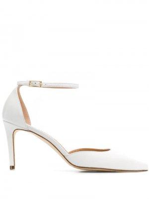 Туфли с ремешком на щиколотке Antonio Barbato. Цвет: белый