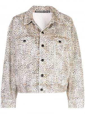 Джинсовая куртка Alexander Wang. Цвет: коричневый
