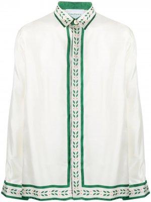 Рубашка с принтом Casablanca. Цвет: белый