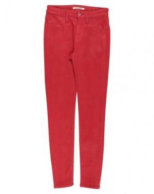 Джинсовые брюки DON THE FULLER. Цвет: красный