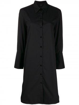 Поплиновое короткое платье Victor Joseph. Цвет: черный
