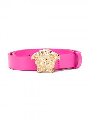 Ремень с пряжкой Medusa Young Versace. Цвет: розовый