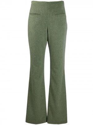 Расклешенные брюки 1990-х годов Jean Louis Scherrer Pre-Owned. Цвет: зеленый