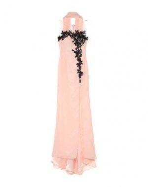 Длинное платье SOLOGIOIE. Цвет: розовый