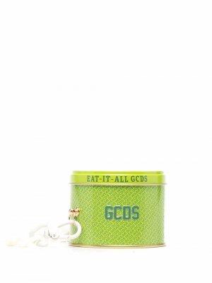 Сахарные пастилки из коллаборации с Pastiglie Leone Gcds. Цвет: зеленый