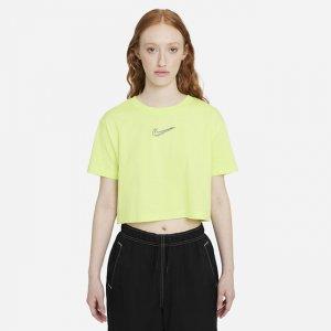 Женская укороченная футболка для танцев Sportswear - Желтый Nike