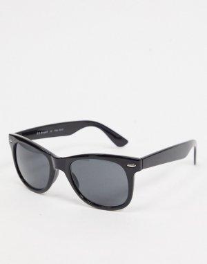 Квадратные солнцезащитные очки в черной оправе -Черный цвет AJ Morgan