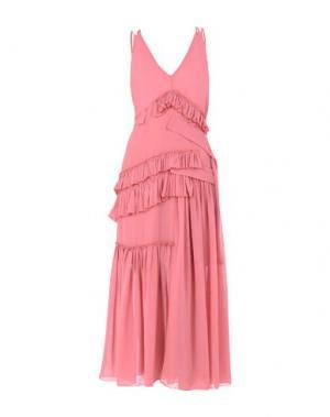 Длинное платье AQUILANO-RIMONDI. Цвет: розовый