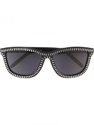 Солнцезащитные очки Alexander Wang x Linda Farrow. Цвет: черный