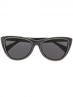 Солнцезащитные очки в оправе кошачий глаз Yohji Yamamoto. Цвет: серый