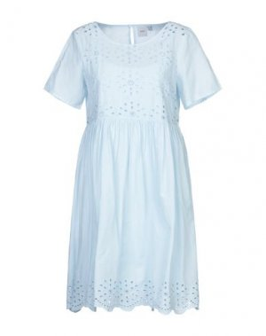 Короткое платье ICHI. Цвет: небесно-голубой