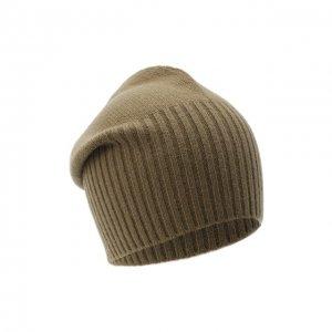 Кашемировая шапка Allude. Цвет: хаки