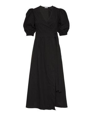 Платье-миди  CANYOXD724104 s черный P.A.R.O.S.H.. Цвет: черный