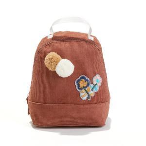 Рюкзак детский из велюра с нашивками LA REDOUTE COLLECTIONS. Цвет: серо-рыжий