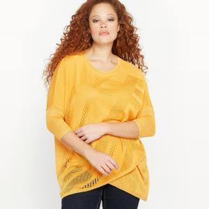 Пуловер асимметричный CASTALUNA. Цвет: желтый кукурузный