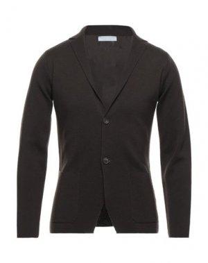 Пиджак FILIPPO DE LAURENTIIS. Цвет: темно-коричневый