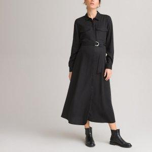 Платье-рубашка LaRedoute. Цвет: черный