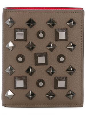 Paros billfold wallet Christian Louboutin. Цвет: коричневый