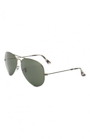 Солнцезащитные очки Ray-Ban. Цвет: зелёный
