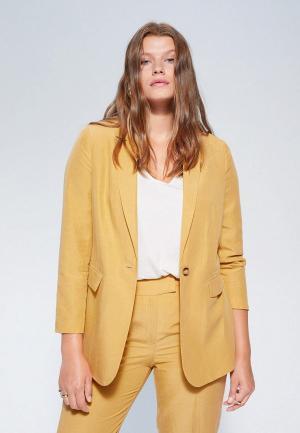 Пиджак Violeta by Mango - ZIM. Цвет: желтый