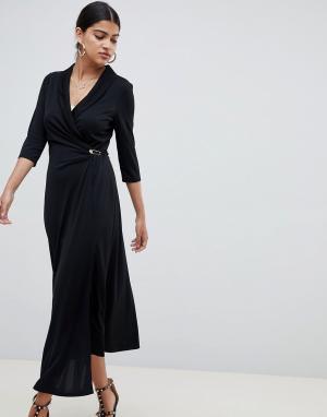 Платье-рубашка миди с застежкой на английскую булавку ASOS DESIGN