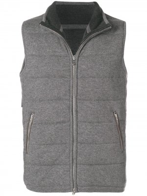 Mall quilted gilet N.Peal. Цвет: серый