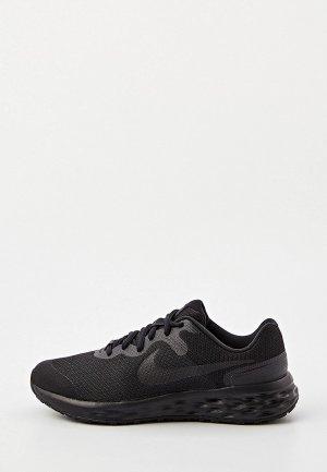 Кроссовки Nike REVOLUTION 6 NN (GS). Цвет: черный