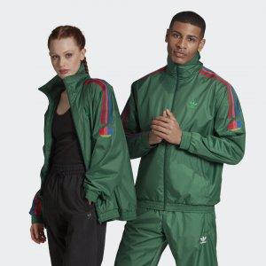 Олимпийка 3D Trefoil 3-Stripes Originals adidas. Цвет: зеленый