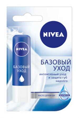Бальзам для губ Базовый уход NIVEA. Цвет: none