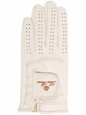 Перчатки с вышитым логотипом Loro Piana. Цвет: a697 beige
