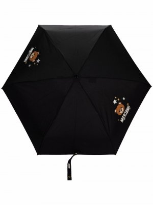 Teddy bear-print large umbrella Moschino. Цвет: черный