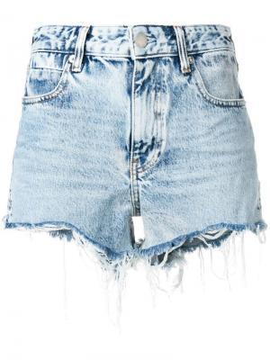 Джинсовые шорты с эффектом потертости Alexander Wang. Цвет: синий