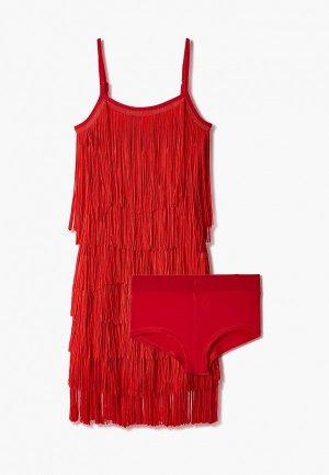 Платье AltraNatura для латино-американской программы. Цвет: красный