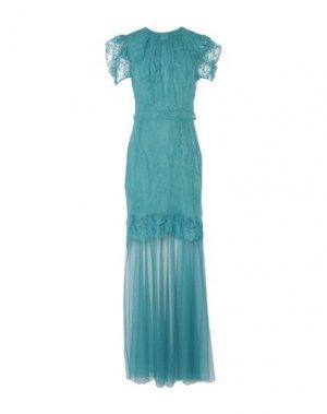 Длинное платье ANNA RACHELE. Цвет: бирюзовый