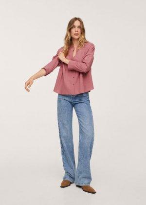 Блузка 100% хлопок - Diana Mango. Цвет: гранатовый