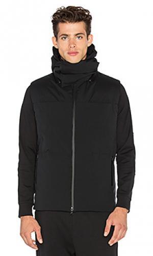 Матовая куртка-жилет на пуху Y-3 Yohji Yamamoto. Цвет: черный
