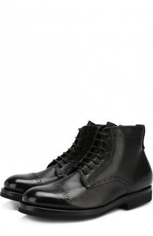 Кожаные ботинки H`D`S`N Baracco. Цвет: чёрный