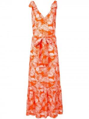 Летнее платье Triangle Bambah. Цвет: оранжевый