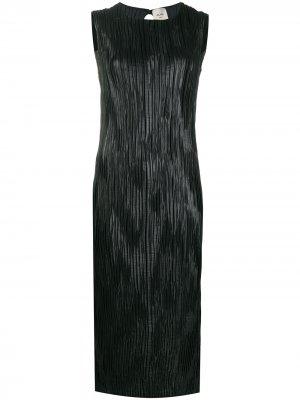 Платье без рукавов с жатым эффектом Alysi. Цвет: черный