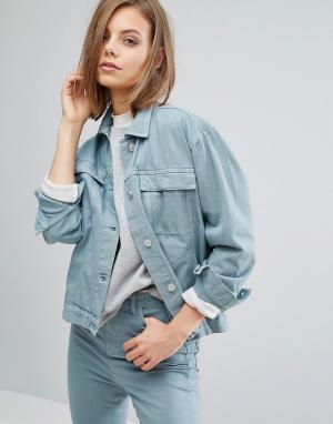 Джинсовая куртка Karin Waven. Цвет: зеленый