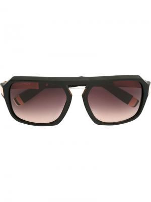 Солнцезащитные очки авиаторы с геометрической оправой Dsquared2. Цвет: чёрный