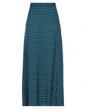 Длинная юбка BEATRICE. Цвет: темно-зеленый