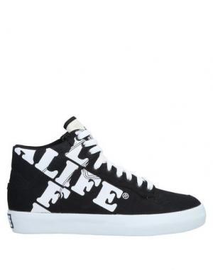 Высокие кеды и кроссовки ALIFE. Цвет: черный