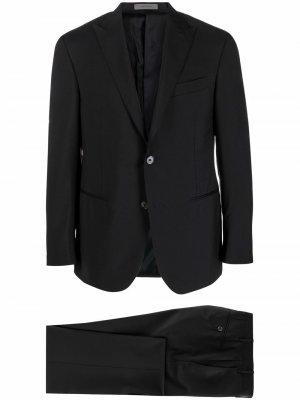 Костюм-двойка с однобортным пиджаком Corneliani. Цвет: синий