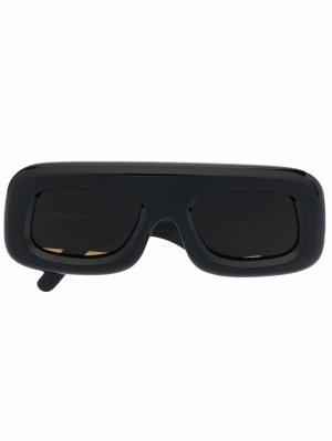 Солнцезащитные очки в массивной оправе Acne Studios. Цвет: черный