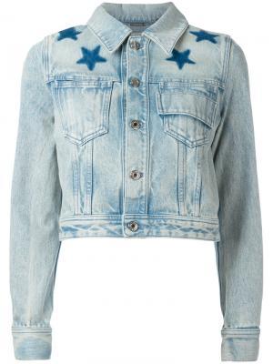 Выбеленная джинсовая куртка Givenchy. Цвет: синий